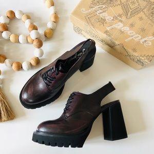 NWT Free People Salem Slingback Platform shoes